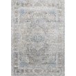 "Loloi Gemma GEM-05 Traditional Power Loomed 1' 6"" x 1' 6"" Sample Swatch Square Rug in Silver and Blue (GEMAGEM-05SIBB160S)"