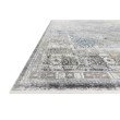 """Loloi Gemma GEM-05 Traditional Power Loomed 7' 7"""" x 9' 10"""" Rectangle Rug in Silver and Blue (GEMAGEM-05SIBB779A)"""