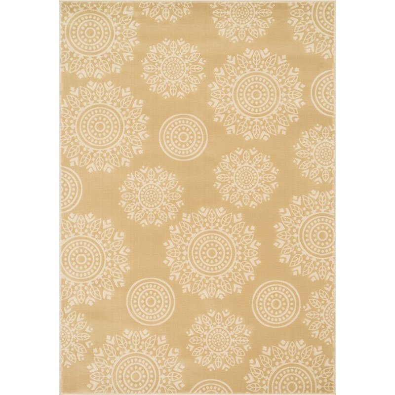 """Loloi Goodwin GW-06 Rug 7' 7"""" x 7' 7"""" Beige and Ivory Round"""