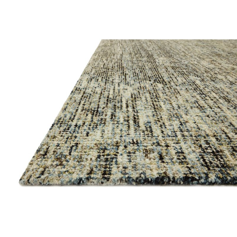 """Loloi Harlow HLO-01 Contemporary Hand Tufted 2' 6"""" x 9' 9"""" Rectangle Rug in Olive and Denim (HLOWHLO-01OLDE2699)"""
