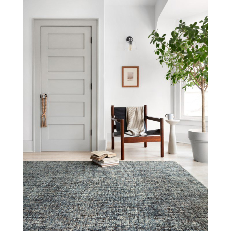 """Loloi Harlow HLO-01 Contemporary Hand Tufted 9' 3"""" x 13' Rectangle Rug in Denim and Charcoal (HLOWHLO-01DECC93D0)"""