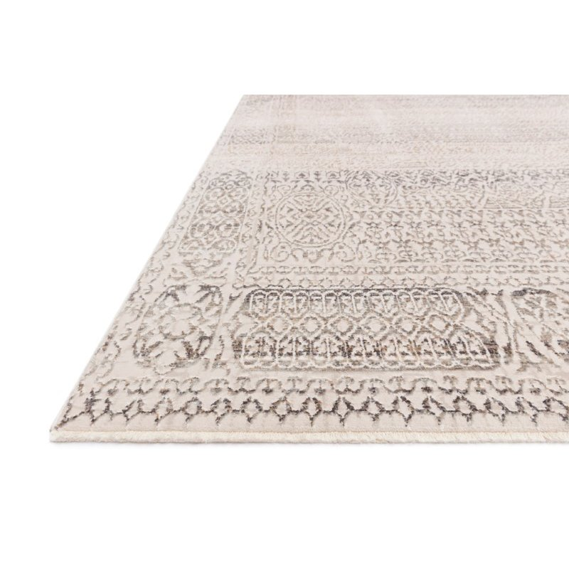 """Loloi Homage HOM-05 Transitional Power Loomed 2' 6"""" x 12' Runner Rug in Ivory and Silver (HOMAHOM-05IVSI26C0)"""