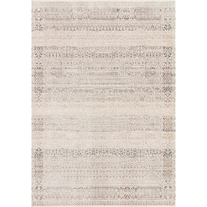 """Loloi Homage HOM-05 Transitional Power Loomed 9' 6"""" x 12' 5"""" Rectangle Rug in Ivory and Silver (HOMAHOM-05IVSI96C5)"""