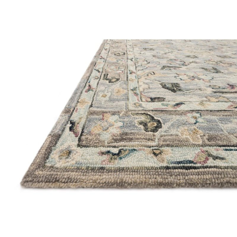 """Loloi II Beatty BEA-04 1' 6"""" x 1' 6"""" Sample Swatch Square Rug in Light Blue and Multi (BEATBEA-04LBML160S)"""