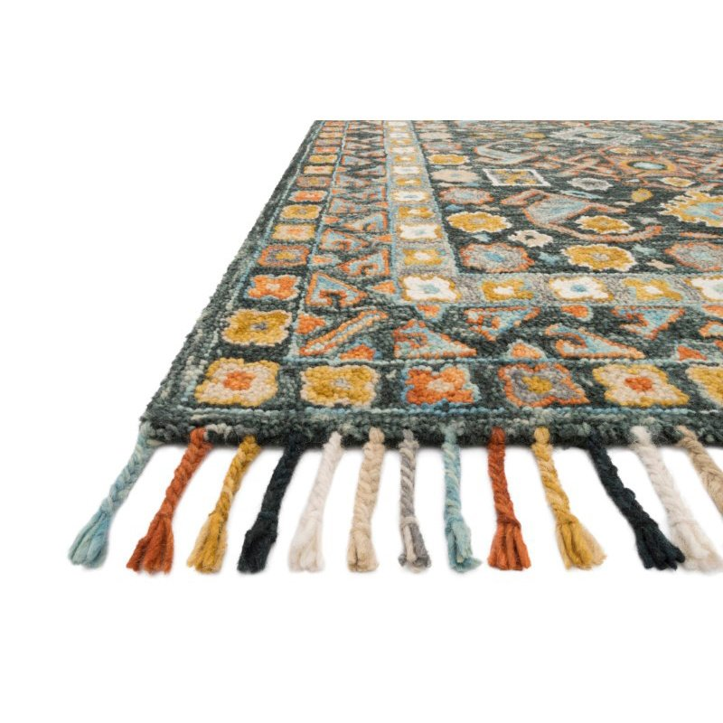 "Loloi II Elka ELK-03 7' 9"" x 9' 9"" Rectangle Rug in Denim and Multi (ELKAELK-03DEML7999)"