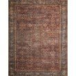 """Loloi II Layla LAY-01 5' x 7' 6"""" Rectangle Rug in Brick and Blue (LAYLLAY-01BKBB5076)"""