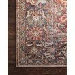 """Loloi II Layla LAY-02 1' 6"""" x 1' 6"""" Sample Swatch Square Rug in Spice and Marine (LAYLLAY-02SQNN160S)"""