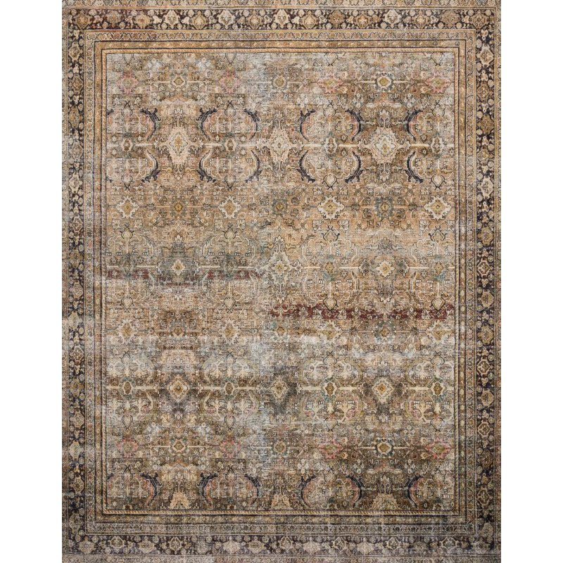 """Loloi II Layla LAY-03 2' 3"""" x 3' 9"""" Rectangle Rug in Olive and Charcoal (LAYLLAY-03OLCC2339)"""