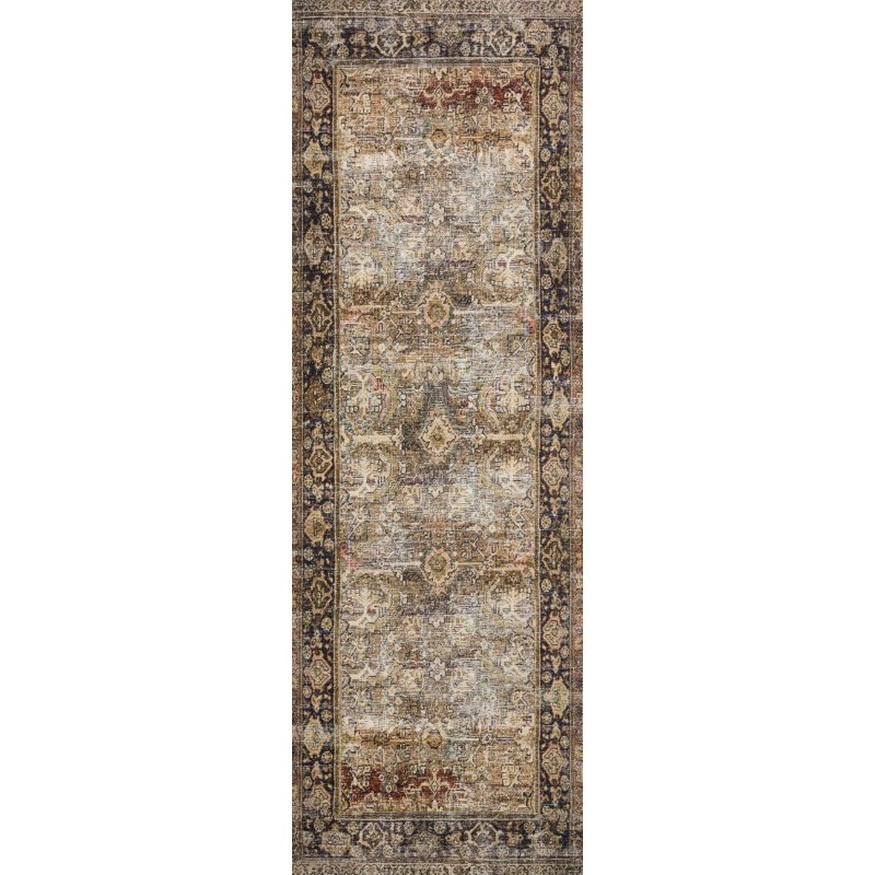 """Loloi II Layla LAY-03 2' 6"""" x 7' 6"""" Runner Rug in Olive and Charcoal (LAYLLAY-03OLCC2676)"""