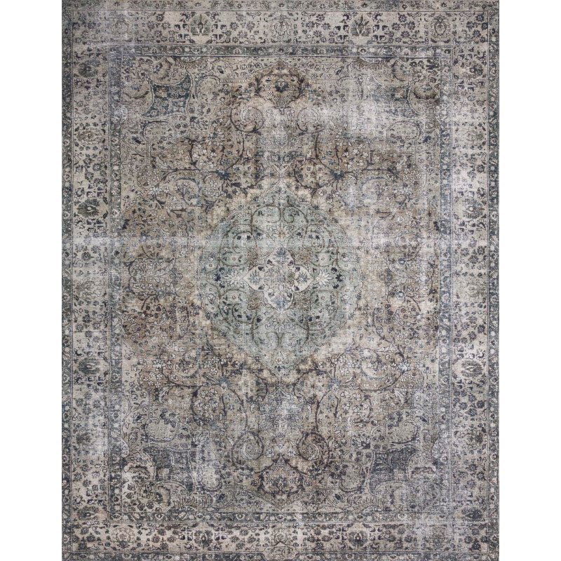 "Loloi II Layla LAY-06 1' 6"" x 1' 6"" Sample Swatch Square Rug in Taupe and Stone (LAYLLAY-06TASN160S)"