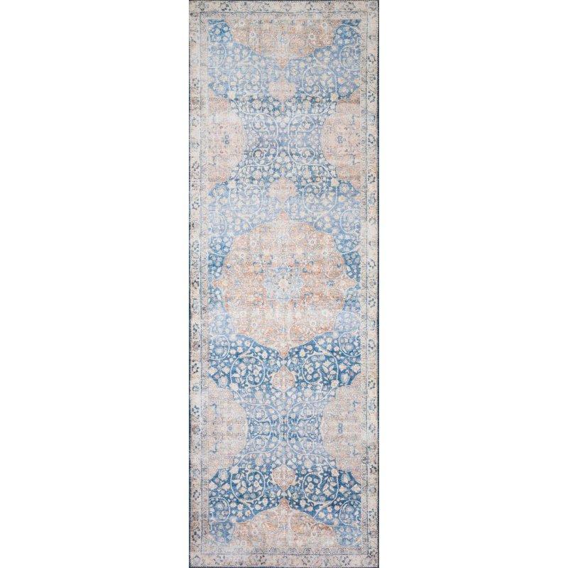 "Loloi II Layla LAY-07 5' x 7' 6"" Rectangle Rug in Blue and Tangerine (LAYLLAY-07BBTG5076)"