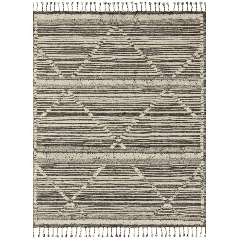 Loloi Iman IMA-01 Contemporary Hand Knotted 2' x 3' Rectangle Rug in Ivory and Charcoal (IMANIMA-01IVCC2030)