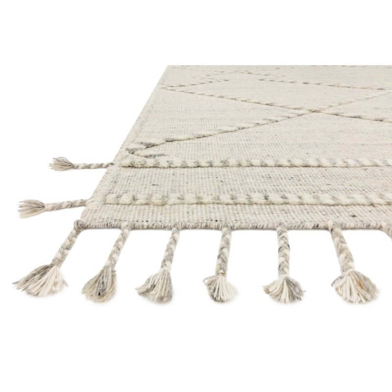 Loloi Iman IMA-03 Contemporary Hand Knotted 2' x 3' Rectangle Rug in Ivory and Lt. Grey (IMANIMA-03IVLC2030)