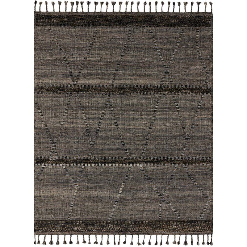 "Loloi Iman IMA-04 Contemporary Hand Knotted 7' 9"" x 9' 9"" Rectangle Rug in Grey and Multi (IMANIMA-04GYML7999)"
