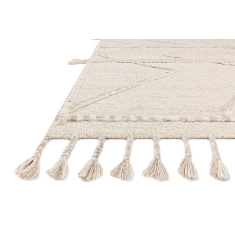 Loloi Iman IMA-05 Contemporary Hand Knotted 4' x 6' Rectangle Rug in Beige and Ivory (IMANIMA-05BEIV4060)