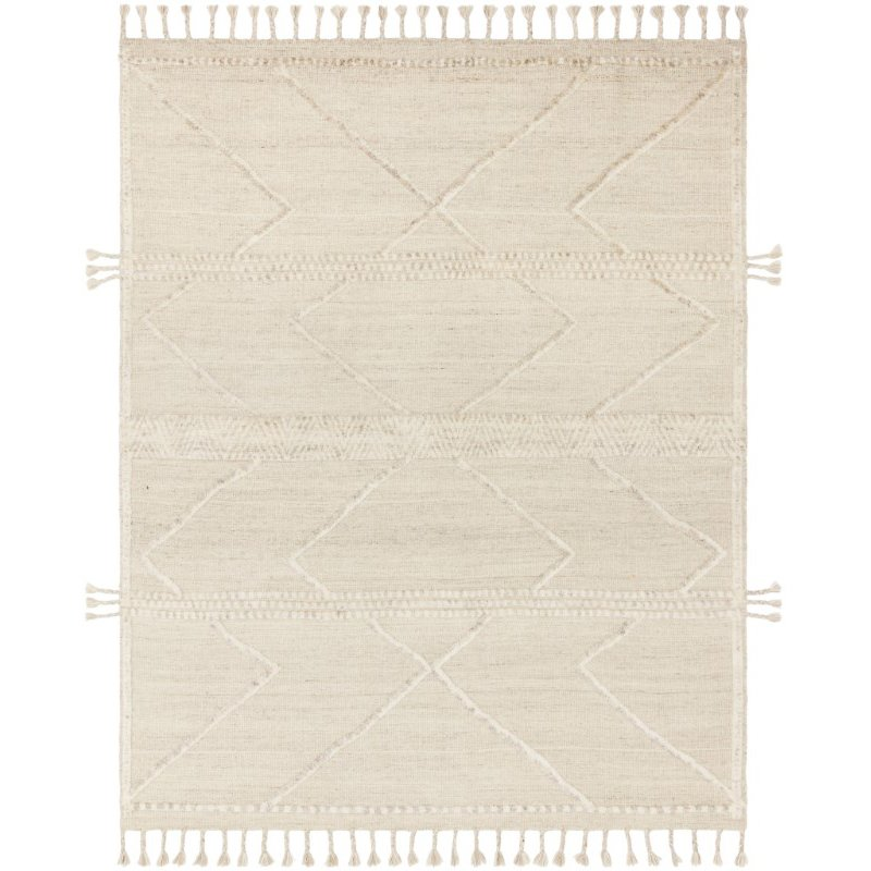 """Loloi Iman IMA-05 Contemporary Hand Knotted 7' 9"""" x 9' 9"""" Rectangle Rug in Beige and Ivory (IMANIMA-05BEIV7999)"""