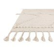 """Loloi Iman IMA-05 Contemporary Hand Knotted 9' 6"""" x 13' 6"""" Rectangle Rug in Beige and Ivory (IMANIMA-05BEIV96D6)"""