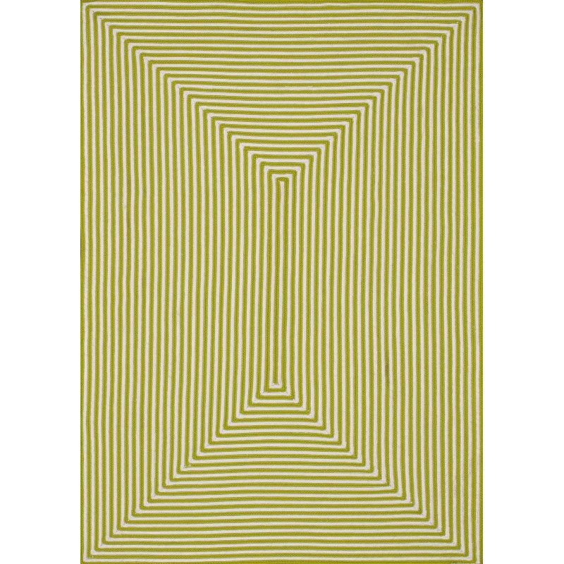 "Loloi In/Out IO-01 Rug 7' 10"" x 7' 10"" Lime Round"