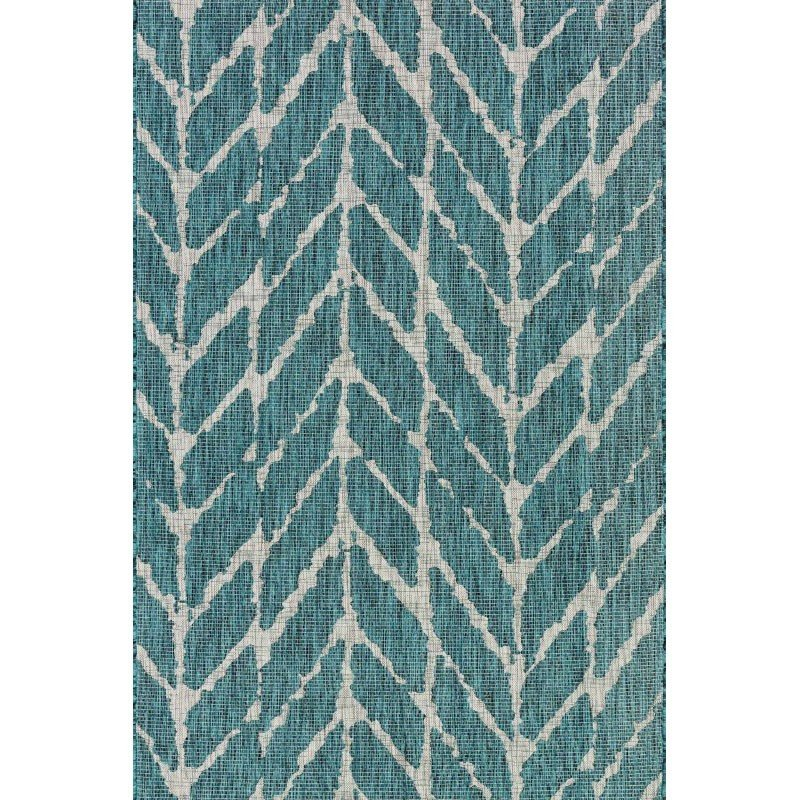 "Loloi Isle IE-02 Rug 7' 10"" x 10' 9"" Teal and Grey Rectangle"