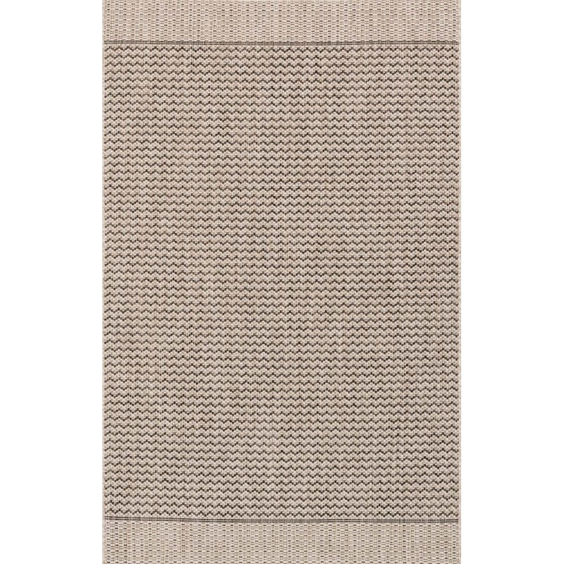 "Loloi Isle IE-03 Rug 5' 3"" x 7' 7"" Grey and Black Rectangle"