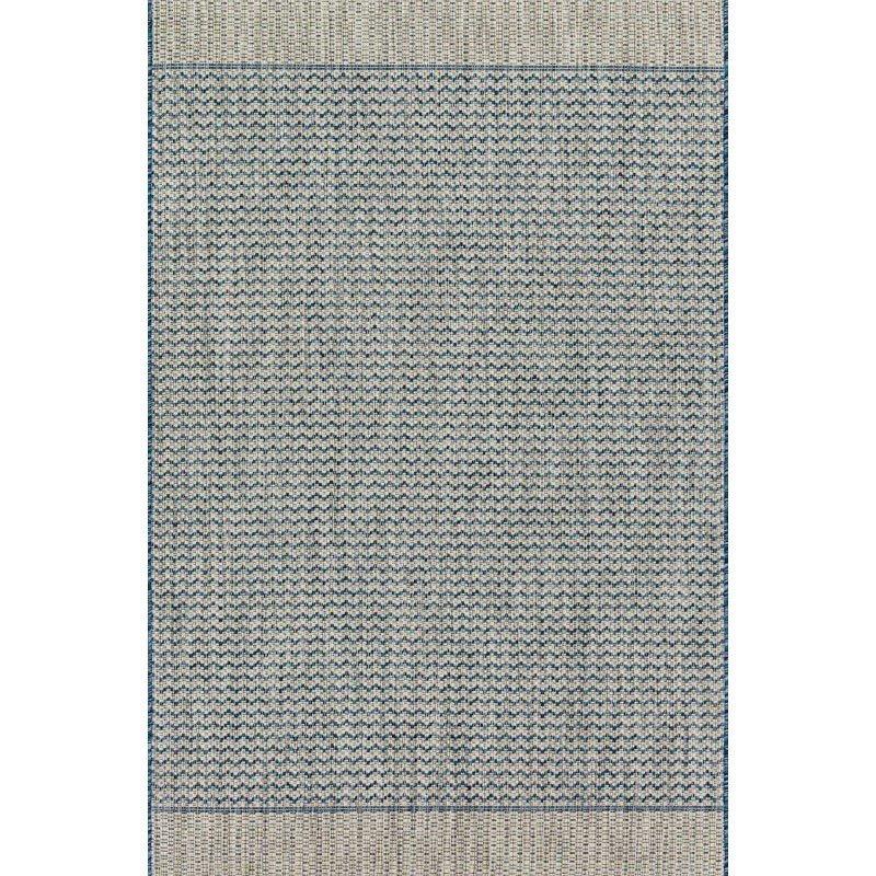 "Loloi Isle IE-03 Rug 5' 3"" x 7' 7"" Grey and Blue Rectangle"