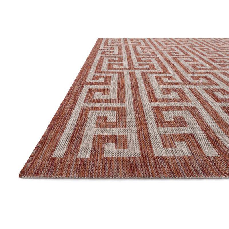 """Loloi Isle IE-05 1' 6"""" x 1' 6"""" Sample Swatch Square Rug in Rust and Beige (ISLEIE-05RUBE160S)"""