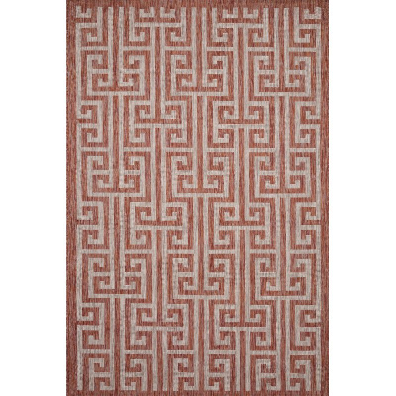 "Loloi Isle IE-05 3' 11"" x 5' 10"" Rectangle Rug in Rust and Beige (ISLEIE-05RUBE3B5A)"