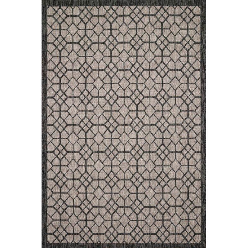 """Loloi Isle IE-06 5' 3"""" x 7' 7"""" Rectangle Rug in Grey and Charcoal (ISLEIE-06GYCC5377)"""