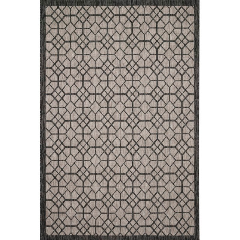 """Loloi Isle IE-06 7' 10"""" x 10' 9"""" Rectangle Rug in Grey and Charcoal (ISLEIE-06GYCC7AA9)"""