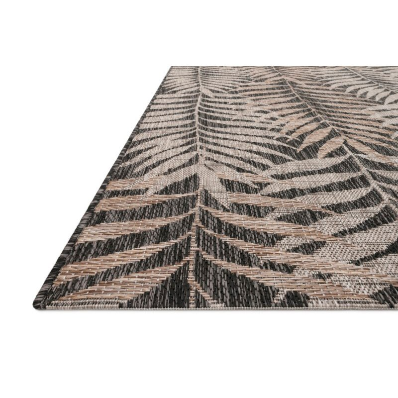 "Loloi Isle IE-08 2' 2"" x 3' 9"" Rectangle Rug in Natural and Black (ISLEIE-08NABL2239)"