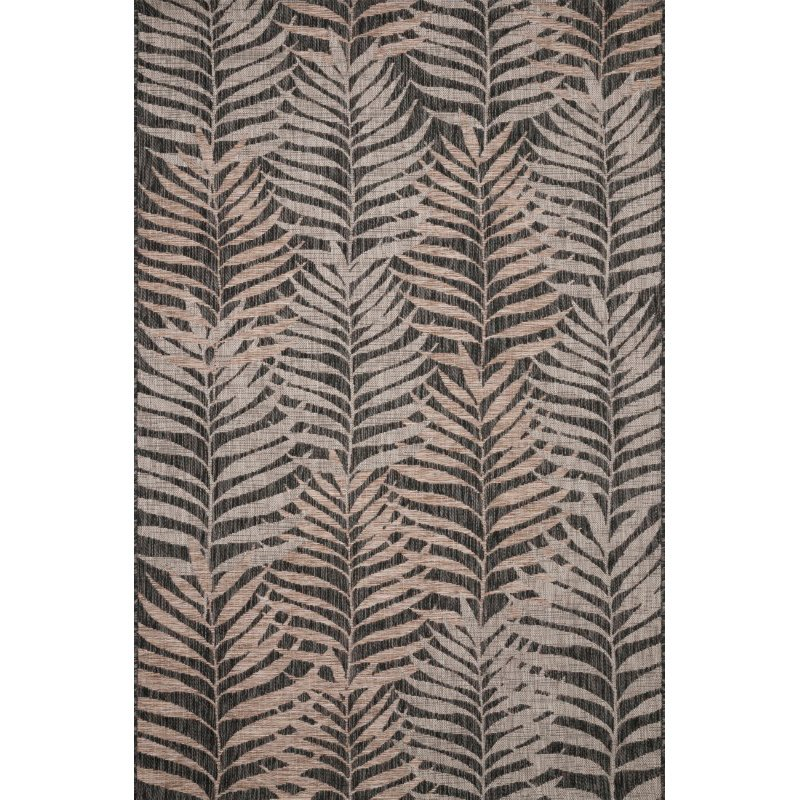 "Loloi Isle IE-08 7' 10"" x 10' 9"" Rectangle Rug in Natural and Black (ISLEIE-08NABL7AA9)"