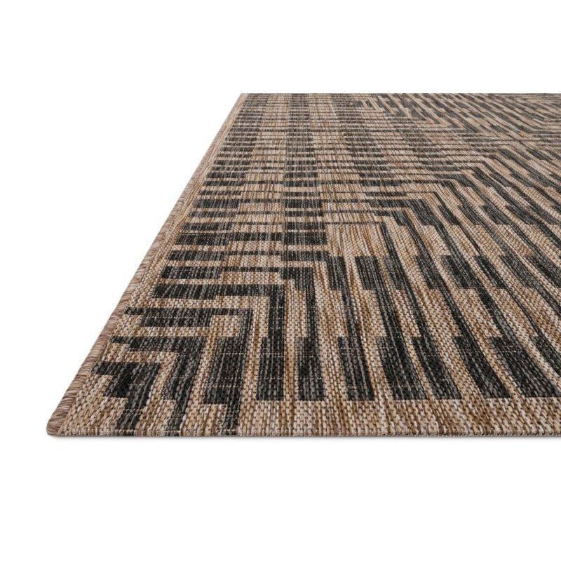"Loloi Isle IE-09 3' 11"" x 5' 10"" Rectangle Rug in Brown and Black (ISLEIE-09BRBL3B5A)"