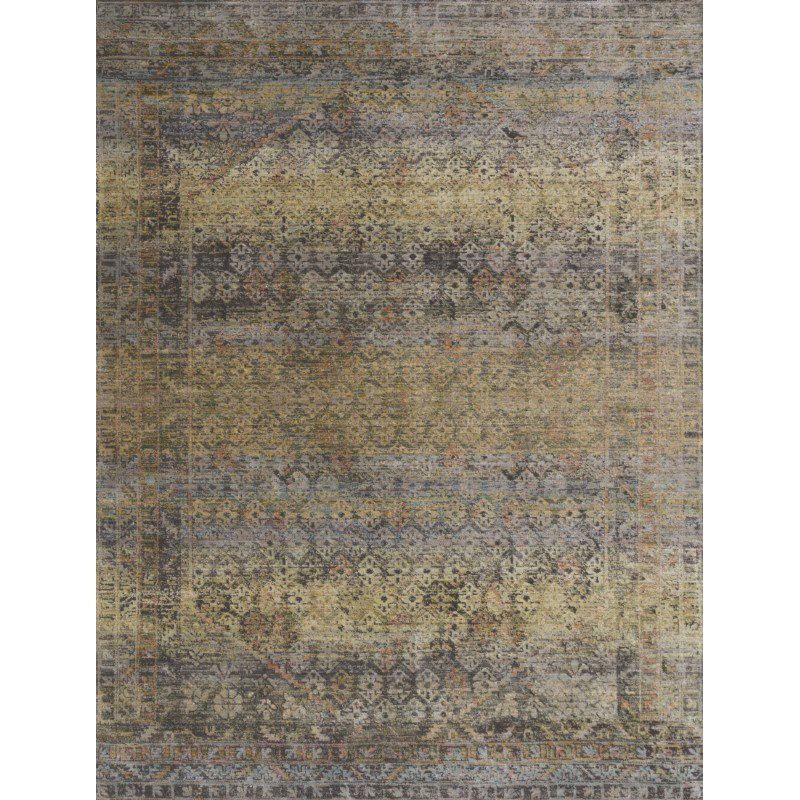 "Loloi Javari JV-03 Contemporary Power Loomed 7' 10"" x 10' Rectangle Rug in Grey and Hazel (JAVRJV-03GYHZ7AA0)"