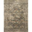"Loloi Javari JV-08 Contemporary Power Loomed 1' 6"" x 1' 6"" Sample Swatch Square Rug in Grey and Multi (JAVRJV-08GYML160S)"