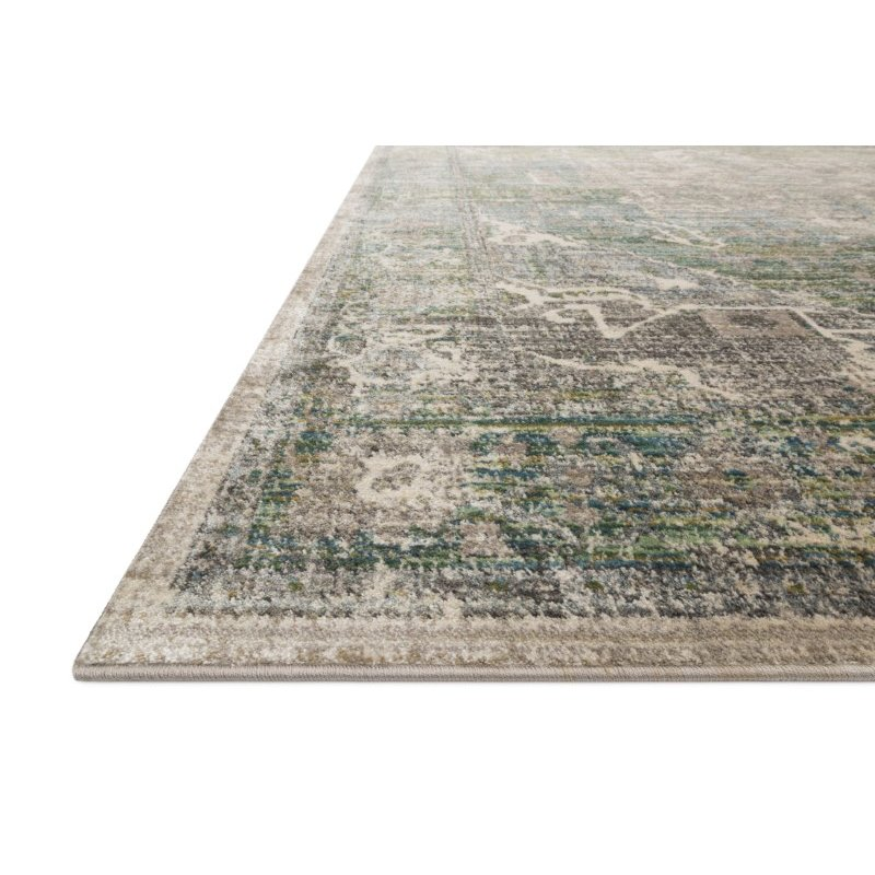 "Loloi Javari JV-08 Contemporary Power Loomed 6' 7"" x 9' 4"" Rectangle Rug in Grass and Ocean (JAVRJV-08GSOC6794)"
