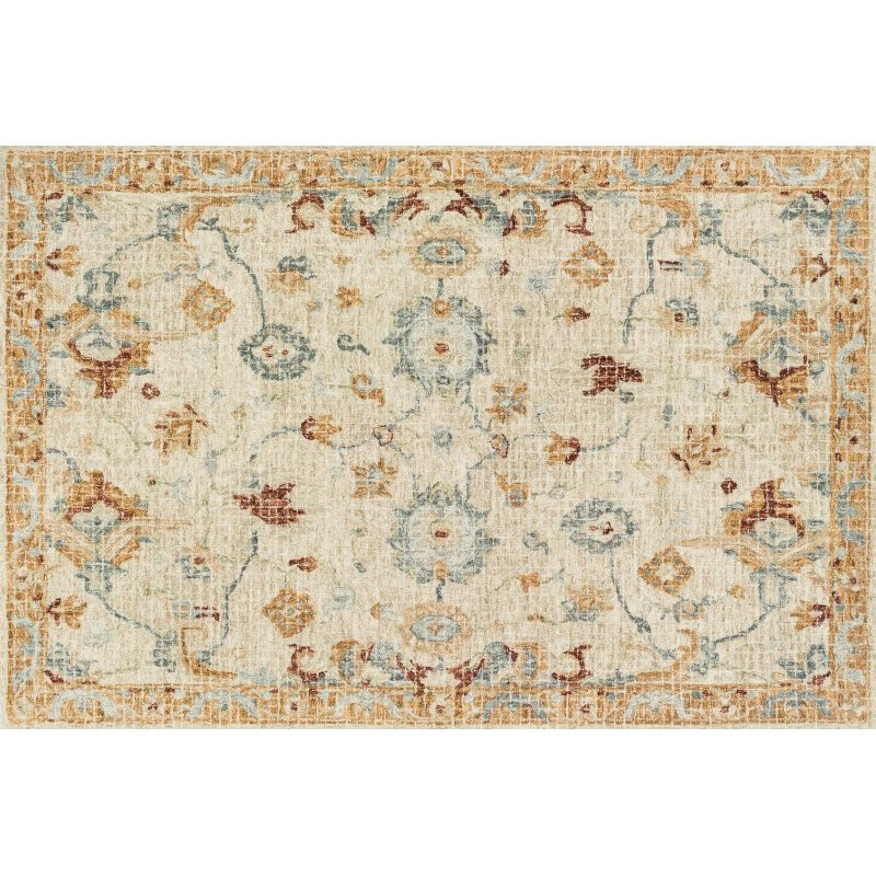 "Loloi Julian JI-03 Transitional Hand Woven Square Rug 1' 6"" x 1' 6"" in Ivory and Multi (JULAJI-03IVML160S)"