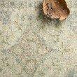 "Loloi Julian JI-07 Transitional Hand Woven Square Rug 1' 6"" x 1' 6"" in Seafoam Green and Spa (JULAJI-07SESP160S)"