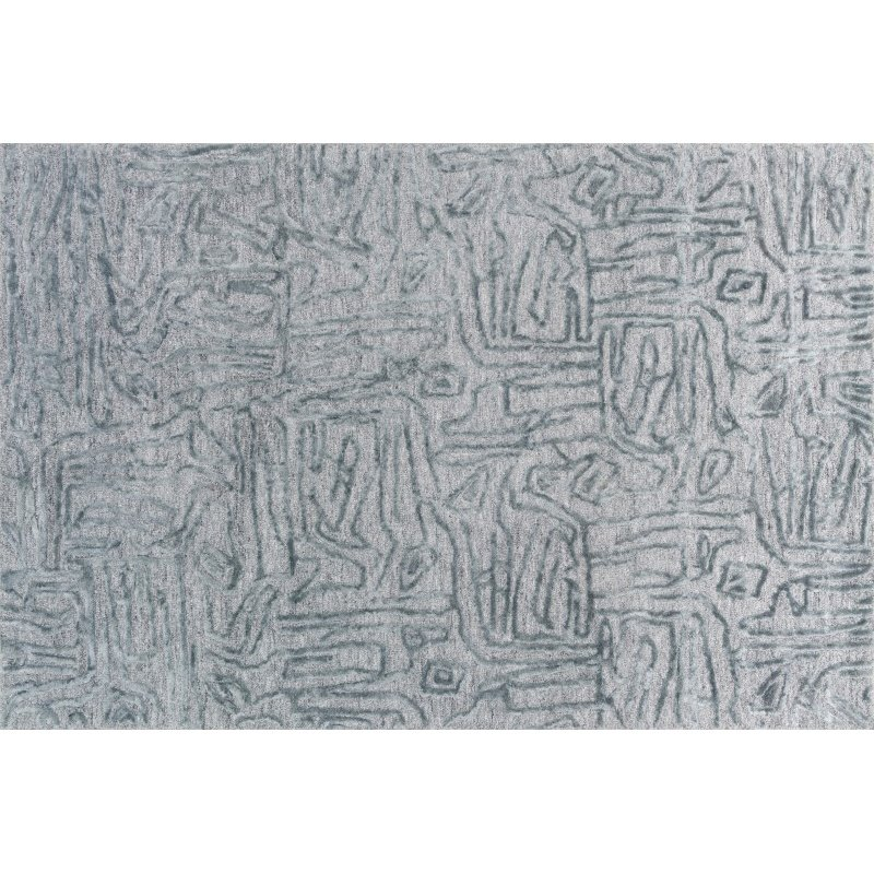 """Loloi Juneau JY-06 Contemporary Rectangle Rug 5' x 7' 6"""" in Lt. Blue and Lt. Blue (JUNEJY-06LBLB5076)"""