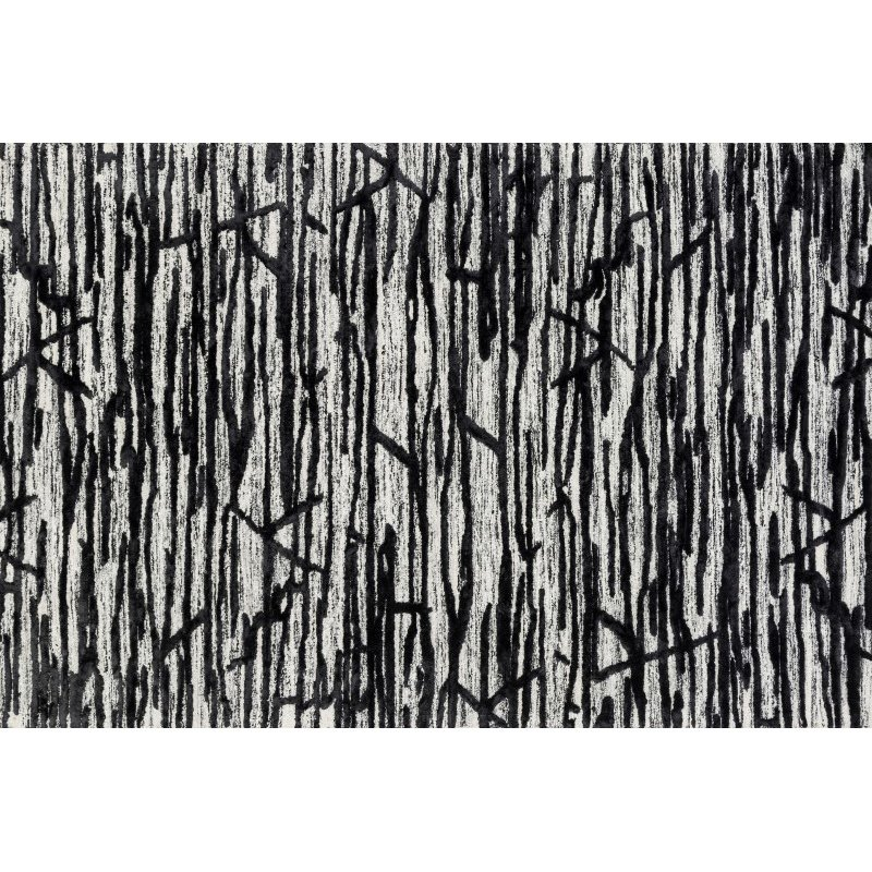 """Loloi Juneau JY-07 Contemporary Rectangle Rug 3' 6"""" x 5' 6"""" in Ivory and Black (JUNEJY-07IVBL3656)"""