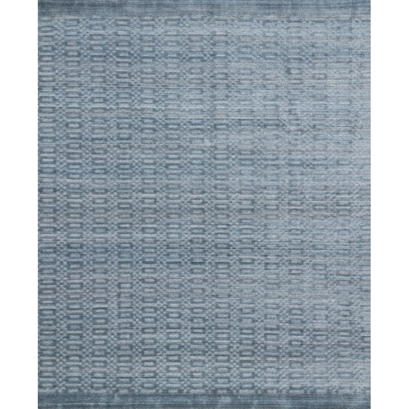 "Loloi Lennon LEN-01 Contemporary Hand Loomed 5' 6"" x 8' 6"" Rectangle Rug in Ocean (LENNLEN-01OC005686)"
