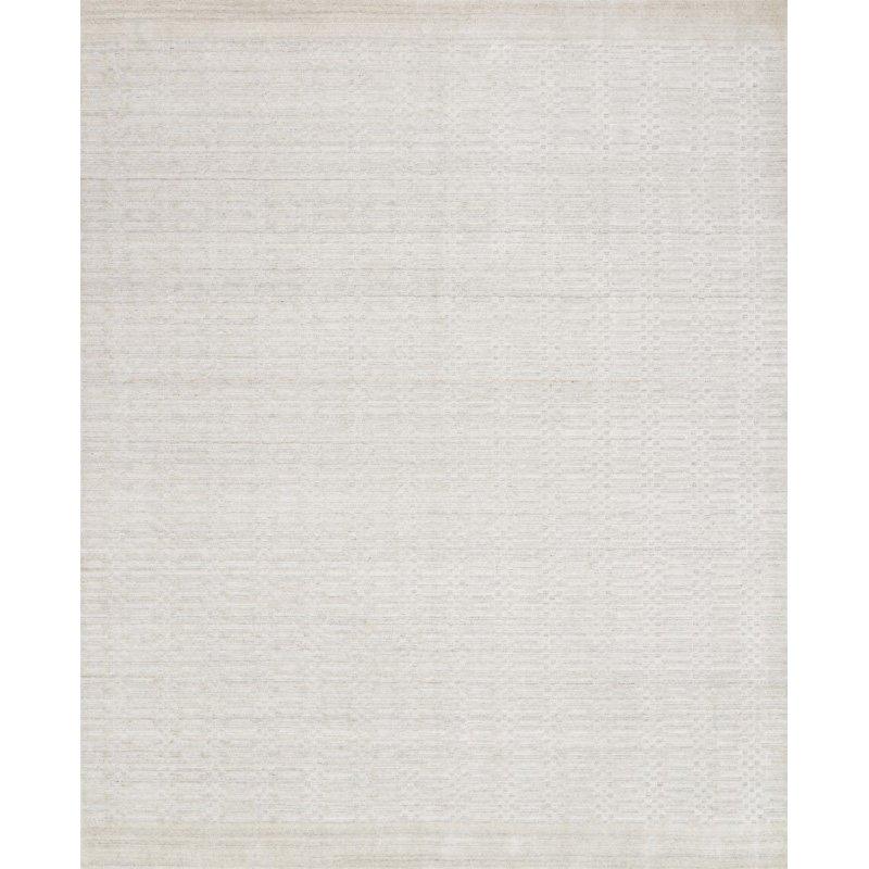 "Loloi Lennon LEN-01 Contemporary Hand Loomed 7' 9"" x 9' 9"" Rectangle Rug in Ivory (LENNLEN-01IV007999)"