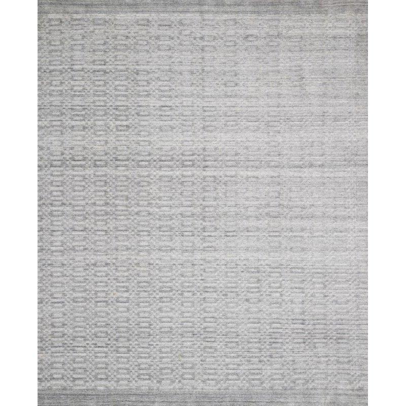 "Loloi Lennon LEN-01 Contemporary Hand Loomed 7' 9"" x 9' 9"" Rectangle Rug in Silver (LENNLEN-01SI007999)"