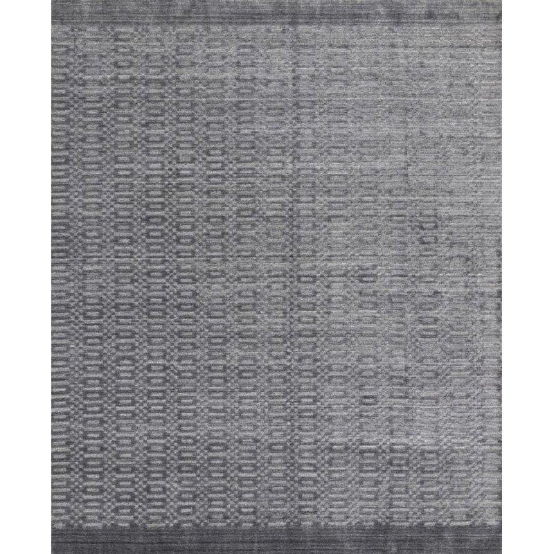 "Loloi Lennon LEN-01 Contemporary Hand Loomed 7' 9"" x 9' 9"" Rectangle Rug in Steel (LENNLEN-01ST007999)"