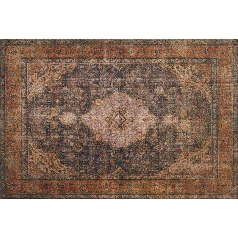 "Loloi Loren LQ-02 7' 6"" x 9' 6"" Rectangle Rug in Plum and Multi (LORELQ-02PLML7696)"