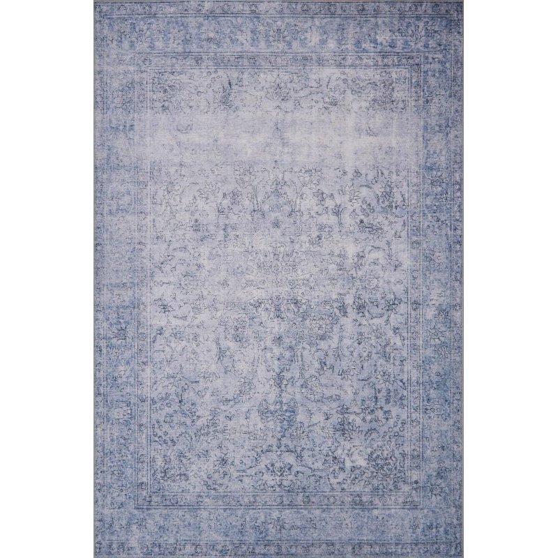 "Loloi Loren LQ-09 Traditional Rectangle Rug 8' 4"" x 11' 6"" in Slate (LORELQ-09SL0084B6)"