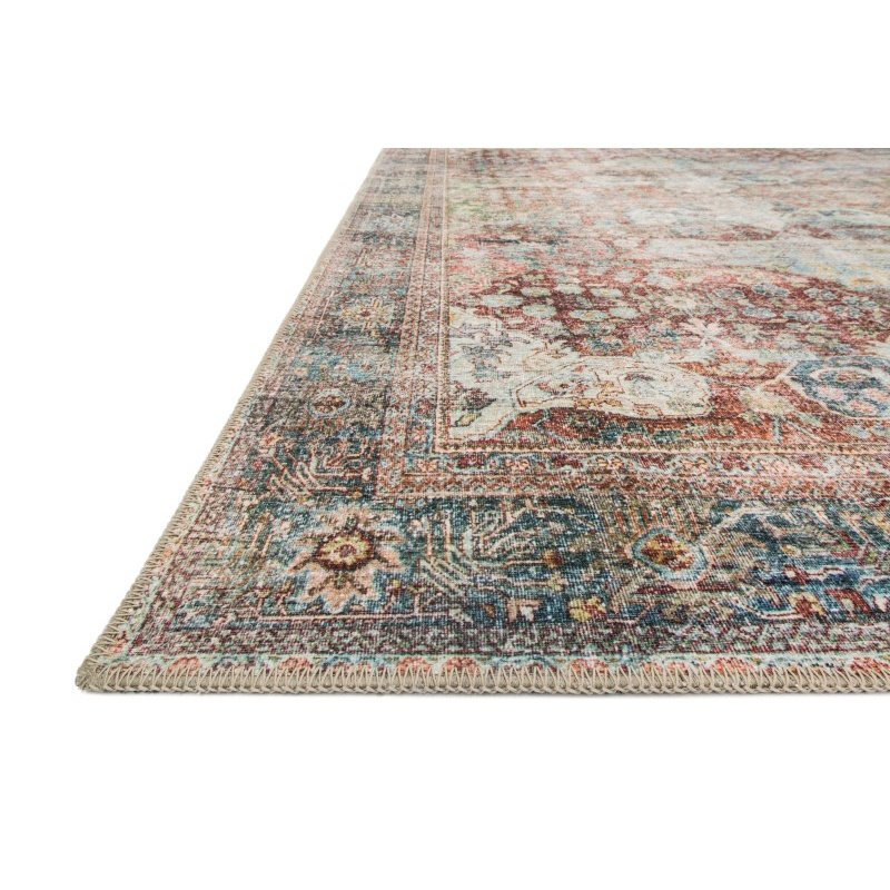 "Loloi Loren LQ-14 Traditional Rectangle Rug 8' 4"" x 11' 6"" in Brick and Multi (LORELQ-14BKML84B6)"