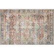 "Loloi Loren LQ-14 Traditional Square Rug 1' 6"" x 1' 6"" in Brick and Multi (LORELQ-14BKML160S)"