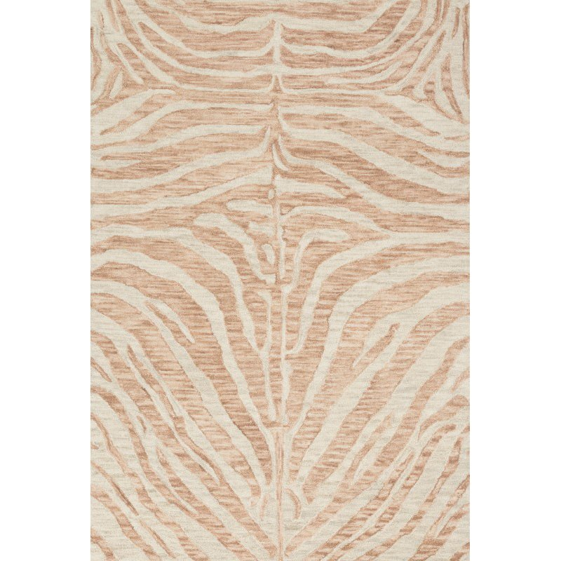 "Loloi Masai MAS-01 Contemporary Hooked 2' 3"" x 3' 9"" Rectangle Rug in Blush and Ivory (MASAMAS-01BHIV2339)"