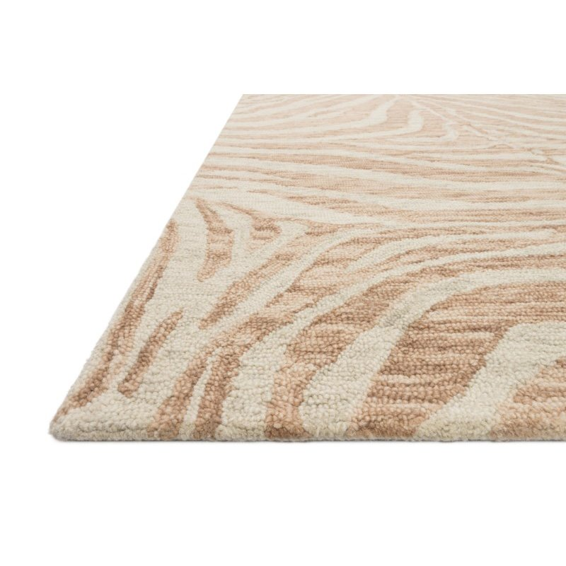 "Loloi Masai MAS-01 Contemporary Hooked 5' x 7' 6"" Rectangle Rug in Blush and Ivory (MASAMAS-01BHIV5076)"