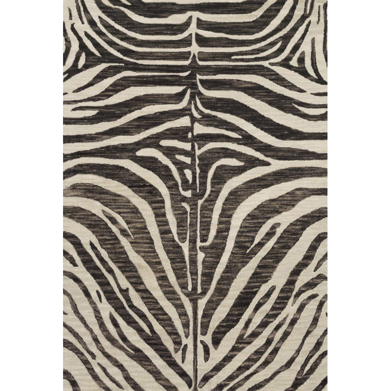 "Loloi Masai MAS-01 Contemporary Hooked 9' 3"" x 13' Rectangle Rug in Java and Ivory (MASAMAS-01JVIV93D0)"